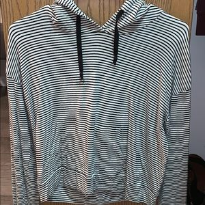 Cropped striped hoodie